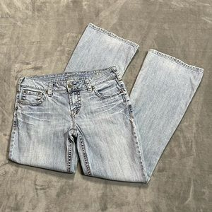 Silver Aiko Light Wash Bootcut Jeans!